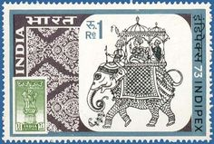 Ceremonial Elephant & 11/2 a stamp