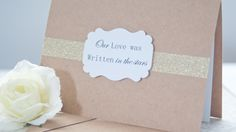 Handmade Wedding Day Card - Our Love was written in the stars- Anniversary Card   #handmadecard #weddingdaycard #husbandcard #wedding #anniversarycard #lovecard www.somethingwithlove.etsy.com www.somethingwithlove.com