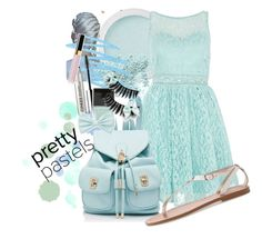"""""""Pretty Pastels Contest Entry"""" by that-artist-love ❤ liked on Polyvore featuring beauty, Bare Escentuals, Quiz, Forever New, MANGO, Mally, Clinique, Butter London, Chanel and Forever 21"""