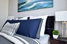 Modern condo design. Design collaborators: Reyes & Co. Design Studio and Samantha Concepcion Designs Reyes, Condo, Tapestry, Throw Pillows, Bed, Projects, Home Decor, Hanging Tapestry, Cushions