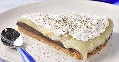 Πεντανόστιμο μπισκοτογλυκό ψυγείου με μπανάνα και μερέντα | CityPatras Candy Recipes, Sweet Recipes, Vegan Recipes, Dessert Recipes, Icebox Cake, Recipe Boards, Breakfast Recipes, Cheesecake, Ice Cream