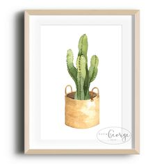 Lola & George - Cactus Print Printed on quality silk card. Available in or size. Unframed - any frames and/or additional items shown in product photos not included. A3 Size, Cactus Print, Plant Decor, A5, Frames, Silk, Printed, Cards, Photos