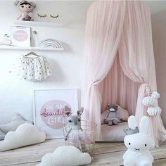 Kid Bettwäsche runden Kuppel Bett Baldachin Bettdecke Moskito Netz Vorhang hängen Hause Bett Kinderbett Zelt Hung Dome Zwei Schichten von Netto-Garn Maße 240CM
