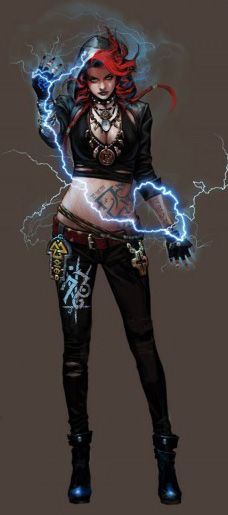 Female Shaman, note the fetishes hanging everywhere. human, character, shadowrun