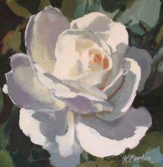 Such subtle use of color and value; wonderful! Kaethe Bealer: White Rose