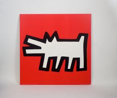 Red Dog by Keith Haring from the Icons series. Keith Haring rose to prominence in the graffiti, street art scene. He is linked with Basquiat and Warhol. Jm Basquiat, Jean Michel Basquiat, Jasper Johns, Roy Lichtenstein, Andy Warhol, Pittsburgh, Richard Hamilton, Picasso Prints, Keith Haring Art