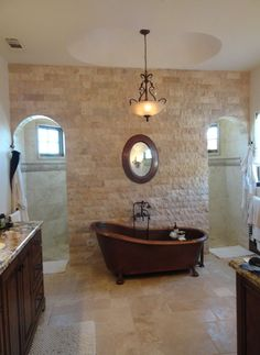 see through bathroom floor look that great tub there s a walk through shower 20325