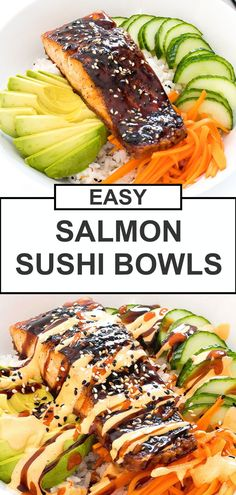 Salmon Sushi, Spicy Salmon, Salmon And Rice, Salmon Roll, Baked Salmon, Vegetarian Recipes, Cooking Recipes, Healthy Recipes, College Hacks