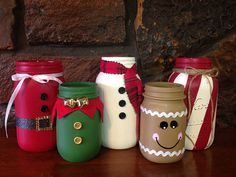 Christmas Mason Jars Christmas themed Mason jars Christmas