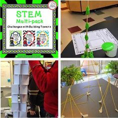 Can you build a tower with only one or two supplies? This money-saving STEM challenge pack will have your students building towers in three different ways!