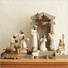 Currently have the holy family, shepherd, sheep and donkey. Need the stars, creche, stable animals, and wisemen to complete my set.