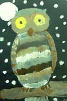 Owl Paintings for Second Grade