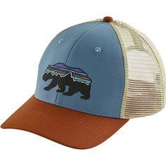 b5bbd35d18847 Patagonia - Fitz Roy Bear Trucker Hat - Railroad Blue Hats Online