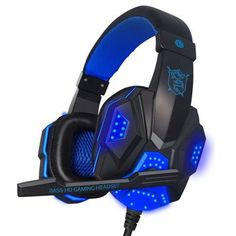 High quality Gaming headset Big earphones Cool glowing headphones stereo with Microphone for computer PC Laptop Gamer