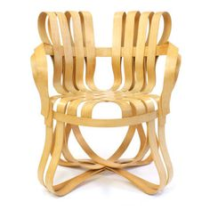 Cross Check Armchair draws its inspiration from wire apple picking baskets and gets its name from an ice hockey
