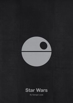 Elegantly Designed, Minimalist Movie Posters Star Wars, Source: http://designtaxi.com/news/359558/Elegantly-Designed-Minimalist-Movie-Posters/