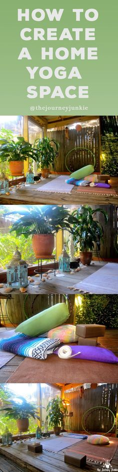 Learn how to create an inspiring home yoga space to create and cultivate your yoga practice! #zen