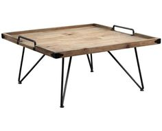 Blending rustic elements with iconic midcentury details, this steel and salvaged hardwood coffee table makes a bold centerpiece for your living room or entryway.