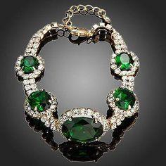 Green Geometrical Oval Cut Bracelet  #fashion #womensfashion #jewelry #necklace #rings #dresses #earrings #women #khaista