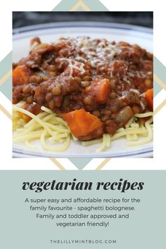 Here is my super easy and affordable vegetarian spaghetti bolognase recipe. Lentils are a grear way to get protein into your diet, they are healthy and low fat. If you are after a simple vegetarian recipe - then you need to try this one! Vegetarian Spaghetti Bolognese, Food Substitutions, Vegetarian Recipes Easy, Lentils, Super Easy, Protein, Easy Meals, Fat
