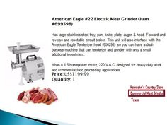 Commercial Meat Grinder | Electric Meat Grinder | Heinsohn's Country Store #meat #grinder