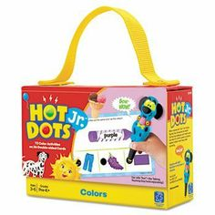 """3 Pack Hot DotsJr. Card Sets, Colors by EII (Catalog Category: Paper, Pens & Desk Supplies / Teacher's Aids) by EII. $53.98. 3 Pack Hot DotsJr. Card Sets, Colors by EIIFun, colorful activities on 36 double-sided cards help prepare early learners for academic success. Use as traditional flashcards or combine with """"Ace"""" the Talking, Teaching Dog (sold separately) for interactive learning with fun lights and encouraging sounds. 6 x 4 cards store neatly in a handy carrying case. ..."""