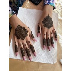Henna - Henna tattoo muster - - Mehendi - Tattoo World Finger Henna Designs, Mehndi Designs 2018, Mehndi Designs For Beginners, Mehndi Design Photos, Unique Mehndi Designs, Mehndi Designs For Fingers, Beautiful Mehndi Design, Simple Mehndi Designs, Henna Tattoo Designs