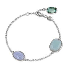 SUGAR MELON Bracelet - Luxurious Sterling Silver and Blue Lace Agate,G – ELLE Time & Jewelry
