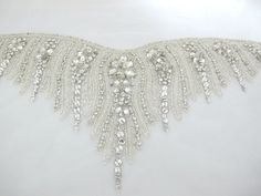 Crystal Rhinestone Applique for Sweetheart Neckline by gebridal