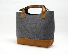 Felt Hand Bag Handbag Felt Purse Lady Bag Ladies Bag Shopping Bag Women Tote Bag with Leather Bottom E1742