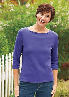 We want every color of this shirt in our closet! Normthompson.com #Essentials #Basics #Apparel