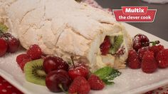 This Pavlova roulade has it all. It's quick easy and amazingly delicious plus it only takes 10 minutes to cook. Raspberry and kiwi Pavlova roulade