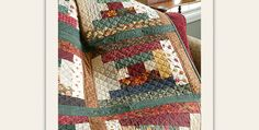Make This Quilt Extra Cozy By Using Flannel Fabrics! Beautiful autumn colored fabrics in warm and cool colors combine in a cozy quilt to enjoy all winter. Christmas fabrics will be lovely in this quilt too, as will just about any color scheme. Just be mindful of values, placing lighter fabrics against darker ones. The …