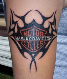 Tribal Harley Davidson tattoo