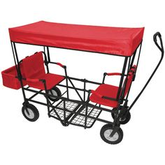 genius: two seat folding wagon for kids