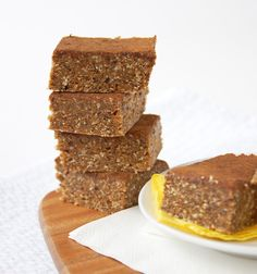 Ginger pumpkin no-bake bars | including cake