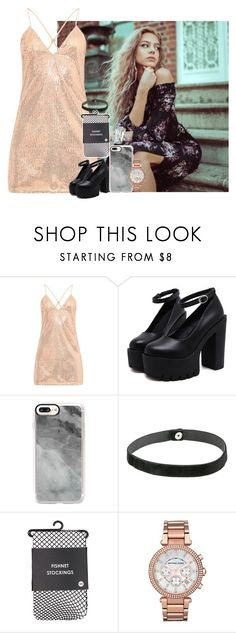 """[ don't you know that your toxic ] kiana"" by pastelprincesslol ❤ liked on Polyvore featuring Casetify, Steve Madden, Chopard, Michael Kors and pasteleah"