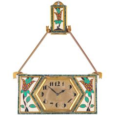 Very Unusual and Decorative Art Deco Wall Clock circa 1920, Signed Gubelin 1
