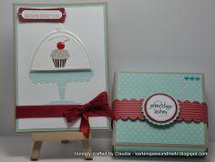 Geschenkset mit Geburtstagskuchenbausatz a la Miri D. Advent Calendar, Stampin Up, Holiday Decor, Home Decor, Packaging, Birthday, Craft, Stamping Up, Interior Design
