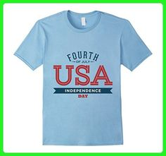 Mens 'Fourth of July' Independence Day T-Shirt Large Baby Blue - Holiday and seasonal shirts (*Amazon Partner-Link)