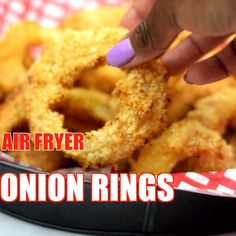how to fry onions Crispy, Homemade Air Fryer Onion Rings is a quick and easy recipe prepared with a seasoned buttermilk batter, a Vidalia onion, and breadcrumbs. These fried rings are Air Fryer Recipes Snacks, Air Fryer Recipes Breakfast, Air Frier Recipes, Air Fryer Dinner Recipes, Appetizer Recipes, Snack Recipes, Cooking Recipes, Air Fryer Recipes Videos, Game Recipes