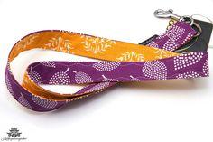 Schlüsselband orange lila aus der #lieblingsmanufaktur