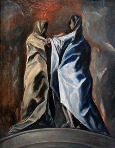 La Visitación, atribuida al Greco. Colección privada