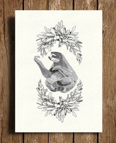 Sloth A4/A5 by GavinRutherford on Etsy