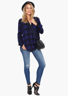 Kim Ripped Jeans in Blue | Necessary Clothing