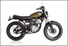 "Yamaha ""Scorpio"" 225cc, custom build by Deus Bali with a Prada (Balinese technique of gold leafing) tank"