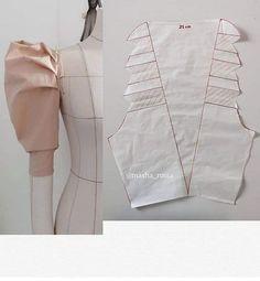 Kids Dress Patterns, Clothing Patterns, Sewing Sleeves, Diy Fashion Hacks, Sewing Alterations, Sleeves Designs For Dresses, Pattern Drafting, Sewing Basics, Diy Dress