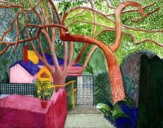 David Hockney// The perspective and color gives this painting immense depth and movement. This painting takes my eye on a roller coaster ride.--JAM
