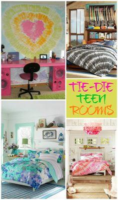 Tie Dye Teen Rooms