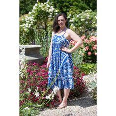 Swan River Rose Vine (Blue) Midi Dress Boho Midi Dress, Rose Vines, Summer Months, Swan, Bohemian, River, Blue, Collection, Color